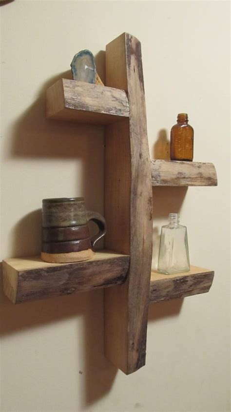 rustic shelves rustic bedroom ideas