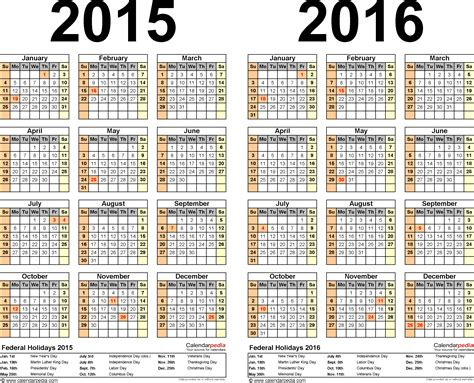 Calendã De 2015 2015 2016 Calendar Free Printable Two Year Pdf Calendars