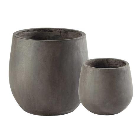 vasi resina 2 vasi da giardino in resina grigia h 50 cm montbeliard