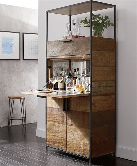 clive bar cabinet crate and barrel drinks cabinet these home cocktail bar ideas are perfect for the party season