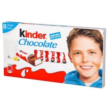 Kinder Chocolate Bar kinder chocolate bars 12g 8 pack