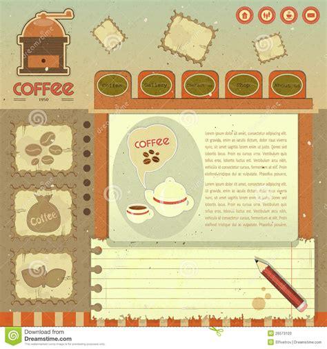 vintage home decor websites coffee vintage web design stock photos image 26573103