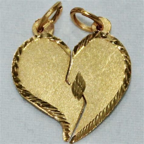 cadenas de oro con dijes dije de corazon de oro de 18 kilates con cadenas y