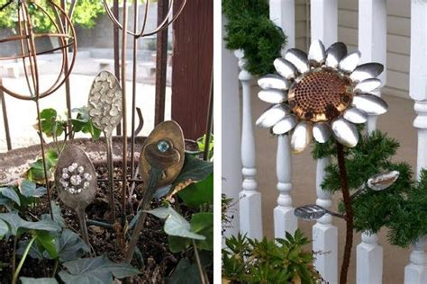 garden decorations made from junk diy recycled outdoor