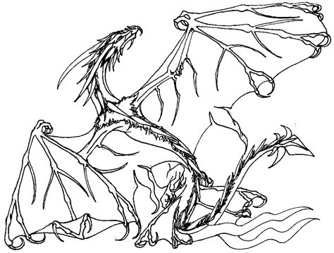Skeleton Dragon Coloring Page | skeleton dragon coloring pages coloring home