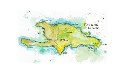 hispaniola map map of hispaniola map of haiti and republic