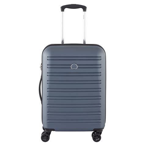 delsey cabin trolley delsey segur slim 4 wheel cabin trolley 55 cm grey in