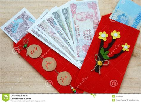 new year traditions lucky money tet envelope lucky money stock image image
