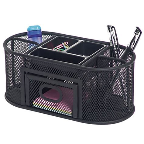 brenton studio metro mesh organizer black by office depot