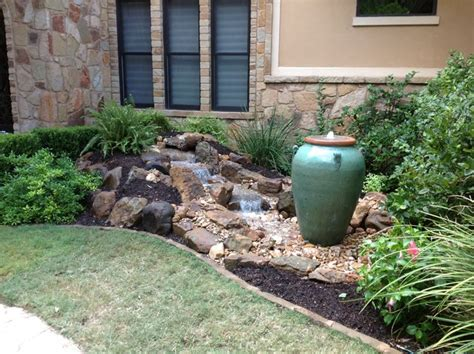 front yard water features christa s front yard waterfall and bubbling urn water feature