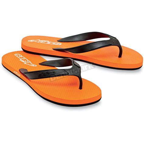 Motorrad Fahren Mit Flip Flops by Alpinestars Orange Advocate Flip Flops 1013 94040408 Atv