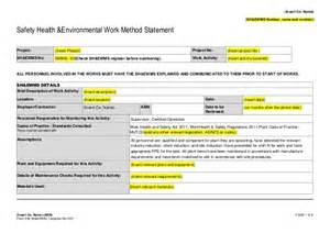 safe work method statement template wa construction work august 2016