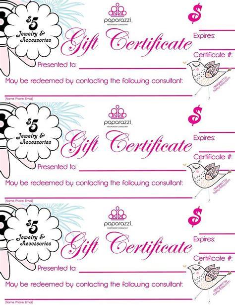 Gift Certificate Http Www Dreasjewelry Com Paparazzi Accessories Facebook Parties Paparazzi Gift Certificate Template