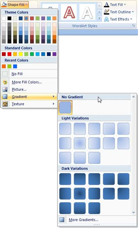 pattern fill shape powerpoint 2007 add gradient fills to shapes in powerpoint 2007 for windows