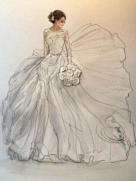 Brautkleider Zeichnen Lernen by Pin Renee Pettine Auf Illustrations Sketches