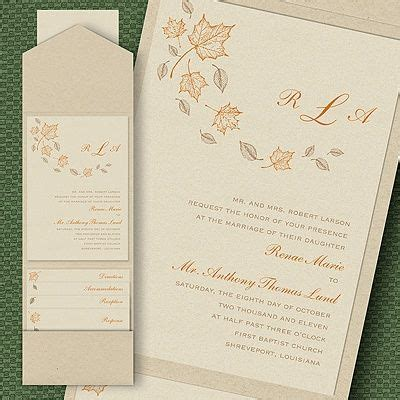 what is enclosed in a wedding invitation wedding invitations ideas for a fall wedding maple