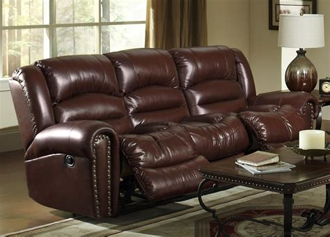 churchill reclining sofa in cordovan leather by catnapper