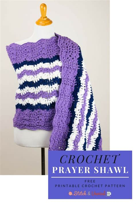 unwind knitting printable pattern free crochet prayer shawl stitches