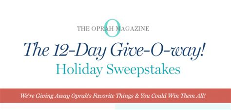 Oprah Sweepstakes 2017 - oprah 12 days of christmas giveaway 2017 oprah com 12days