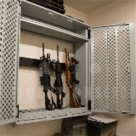wall mounted weapon storage locker secure space for