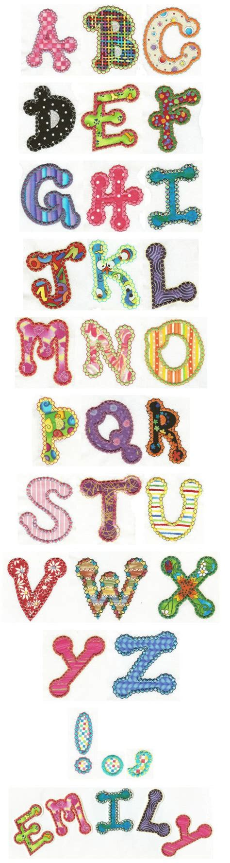 Free Applique by Free Applique Alphabet Patterns Embroidery Free
