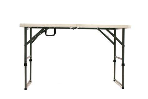 2 plastic table 4 x 2 folding mold trestle table fold in half