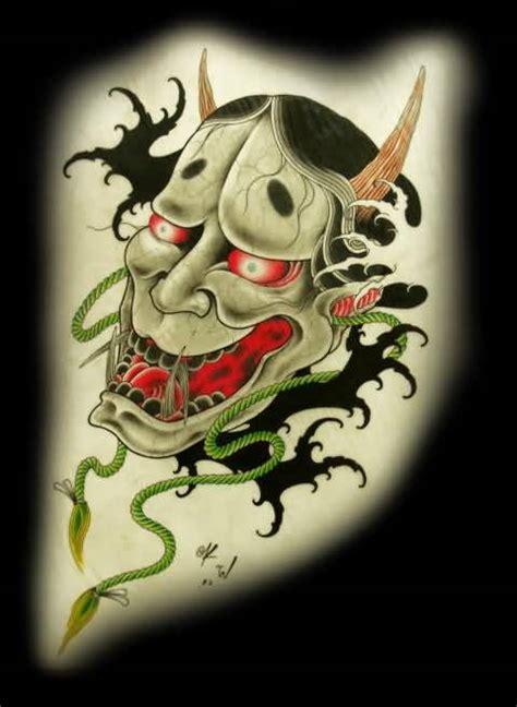 japanese hannya mask tattoo designs attractive devil hannya mask japanese tattoo design on arm