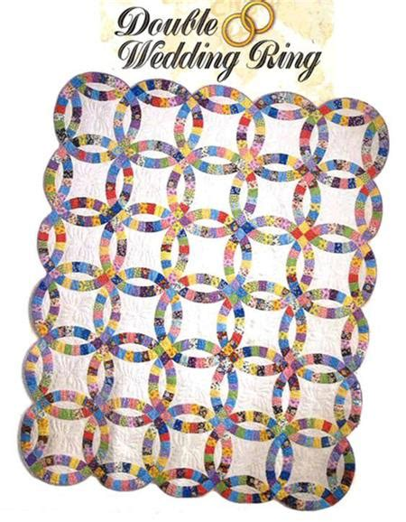 twin double wedding ring quilt kit easy to cut easy to