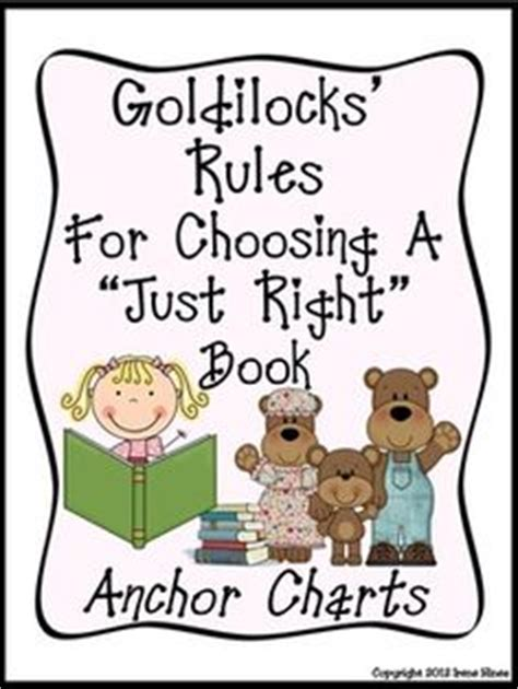 goldilocks and the just right potty books anchor charts on anchor charts kindergarten