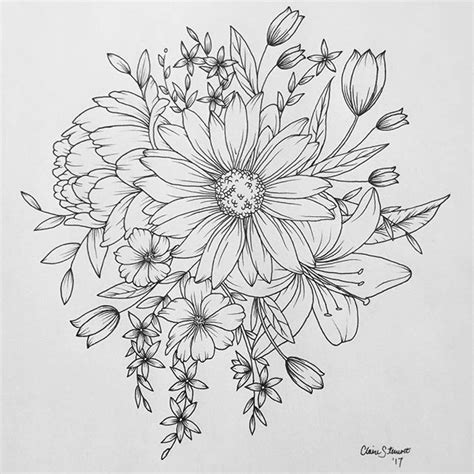 tattoo flower drawn photos tattoo drawing pics drawing art gallery