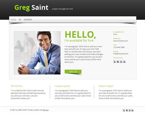 resume site exles 15 best free resume cv website templates and themes