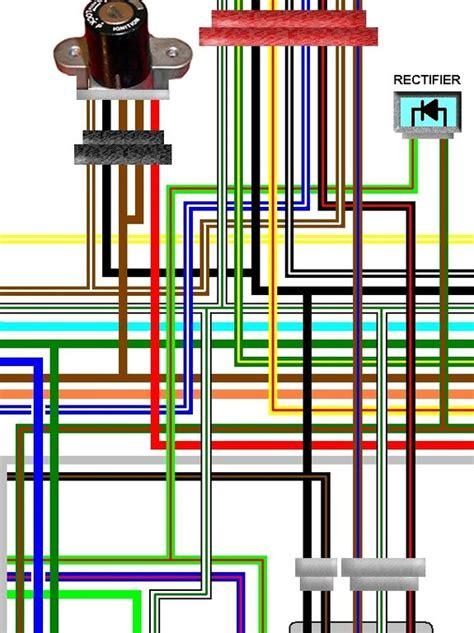 honda cbxf uk spec colour electrical wiring loom diagram