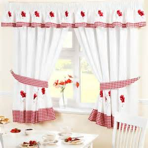 Poppy Kitchen Curtains Poppies Kitchen Curtains Pelmet Cafe Panels Seat Pads Ebay