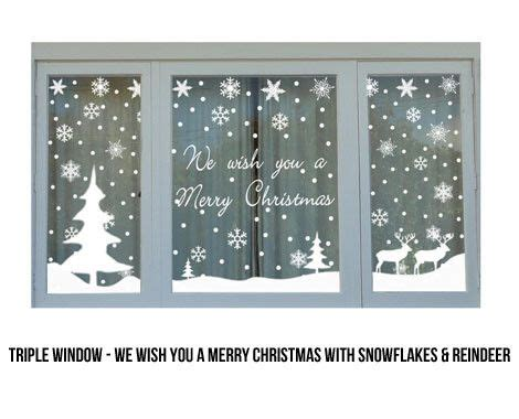 christmas trees window stickers and window on pinterest
