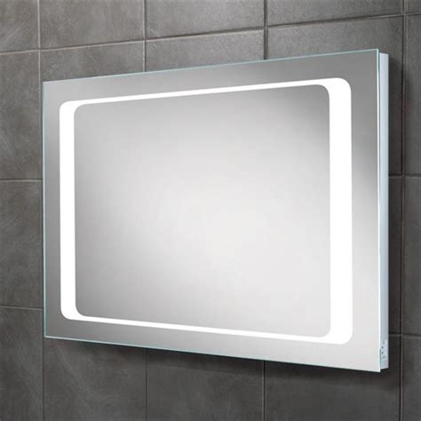 bathroom mirror with shaving point hib axis led backlit bathroom mirror w800 x h600mm