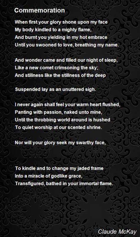 commemoration poem  claude mckay poem hunter