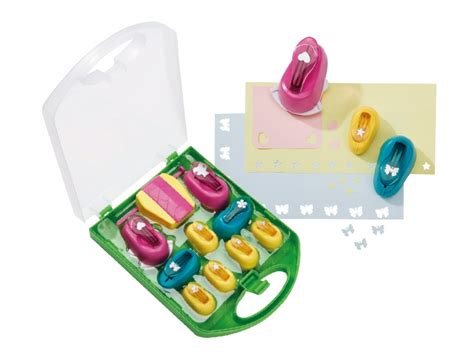 Craft Paper Punch Set - crelando craft paper punch set lidl great britain