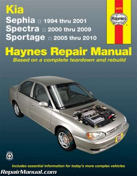 2005 Kia Repair Manual Haynes 1994 2001 Kia Sephia 2000 2009 Spectra 2005 2010
