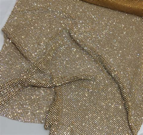 sheet fabric gold rhinestone sheet gold crystal fabric gold rhinestone