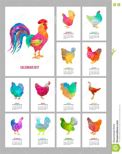 Calendar Cover Desk Calendar For 2017 Year Set Of 12 Colorful Months