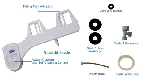 add on bidet bidet add on systems bb 1500 white color cold water