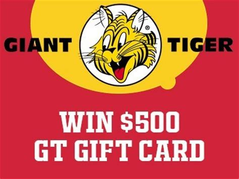 Win Gift Cards For Surveys - www gianttiger com survey win a 500 gift card each month from giant tiger