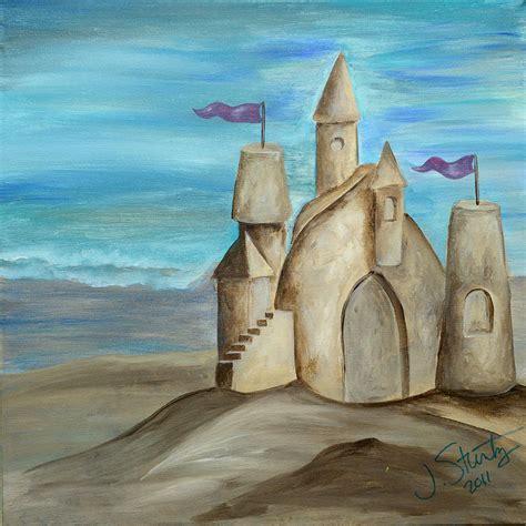 sand castle painting by stuntz