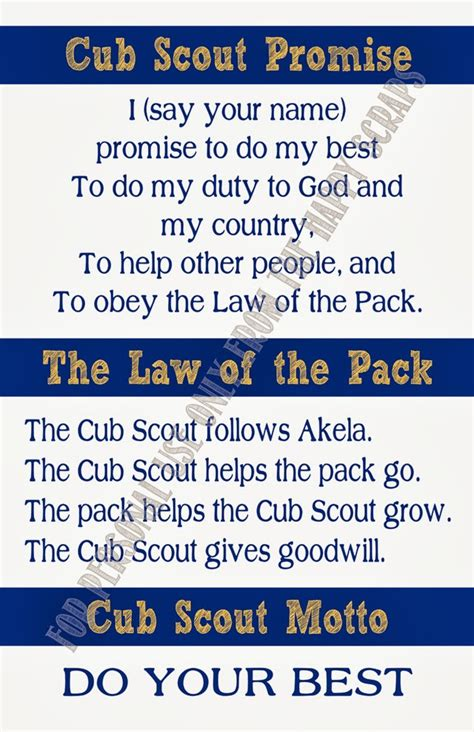 Scout Pledge For Den Meeting 1 Bobcat Cub Scout Promise Of The