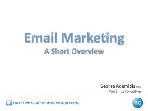 Marketing Mba Overview by An Email Marketing Overview