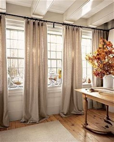 joanna gaines fabric drop cloth curtains curtain rods and window on pinterest