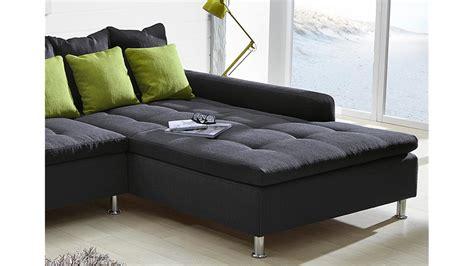 wohnlandschaft mit 2 ottomanen ecksofa montego sofa mit ottomane dunkelgrau kissen gr 252 n