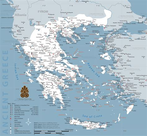 map of archaic greece ancient maps by history link 101