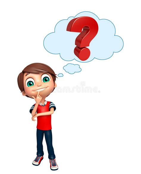 What Is A Or Question For A Boy Kid Boy With Question Sign Stock Illustration Illustration Of Student Clipart 77500314