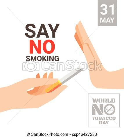 say no day vector of world no tobacco day for say no concept